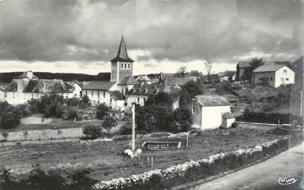Vue de la route Sever - Sauveterre